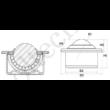 Műanyag golyós továbbító görgő 022