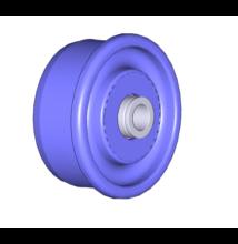 D50 x 2,8 műanyag görgővég, rozsdamentes golyókkal, d=12 porvédővel