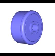 D50 x 1,5 műanyag görgővég, 6202 csapággyal, d=10 porvédővel