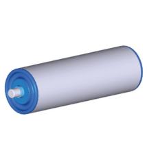Görgő 50 mm palástátmérővel (T13) Beépítési méret 500 mm, Rugós, Rozsdamentes acél