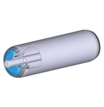 Görgő 50 mm palástátmérővel; (T22) Beépítési méret 250 mm;Belső menet, Horganyzott acél