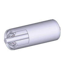 Görgő 50 mm palástátmérővel (T32) Beépítési méret 600 mm,Belső menet, Aluminizált acél