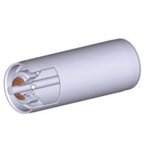 Görgő 50-80 mm palástátmérővel (T33) Fém csapágyház
