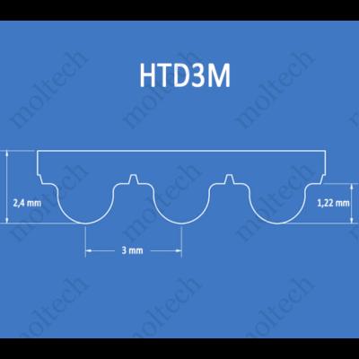 HTD3M bordásszíj