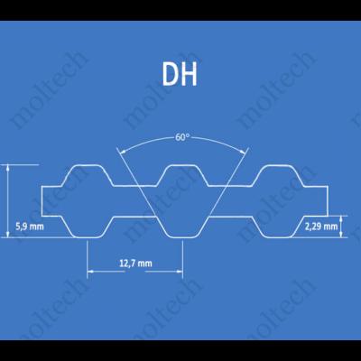 DH profilú bordásszíj