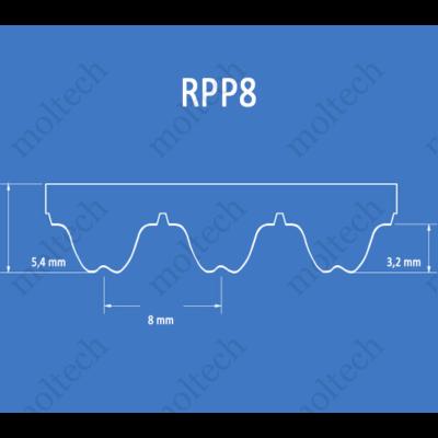 RPP8 bordásszíj