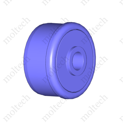 D50 x 1,5 műanyag görgővég, 6202 csapággyal, d=14 porvédővel