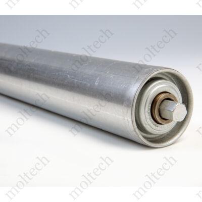 Görgő 50 mm palástátmérővel (T32) Beépítési méret 500 mm, Aluminizált