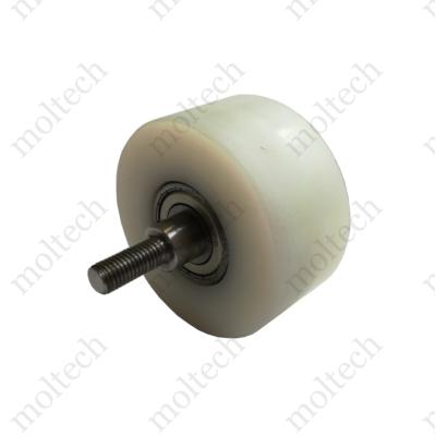 Egyedi danamid támasztó görgő D100 mm külső menetes