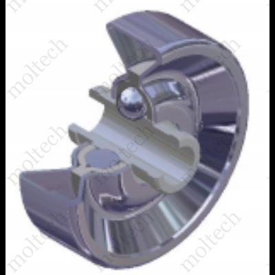 Teljes fém görgő kerék d=6 mm