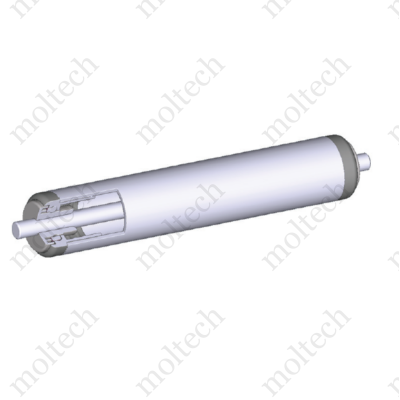 Görgő 20 mm palástátmérővel (T12) Beépítési méret 69 mm, Rozsdamentes