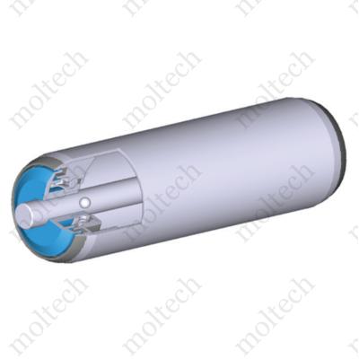 Görgő 50 mm palástátmérővel; (T22) Beépítési méret 500 mm;Belső menet, Aluminizált acél