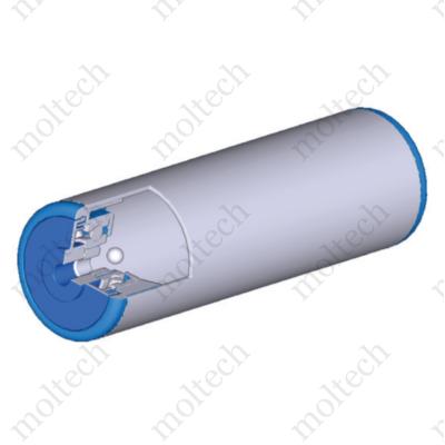 Görgő 50-60 mm palástátmérővel (T24) Műanyag csapágyház, Tengely nélküli, M8 anyacsavarral