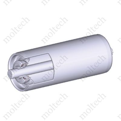 Görgő 50 mm palástátmérővel (T32) Beépítési méret 400 mm,Belső menet, Rozsdamentes acél