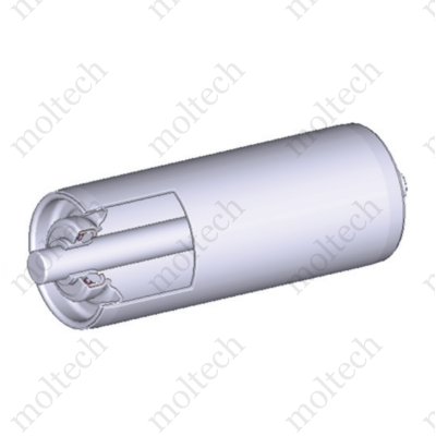 Görgő 50 mm palástátmérővel (T32) Beépítési méret 400 mm,Belső menet, Aluminizált acél