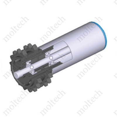 Görgő 50-63 mm palástátmérővel (T53-23) lánchajtás 2x08B1